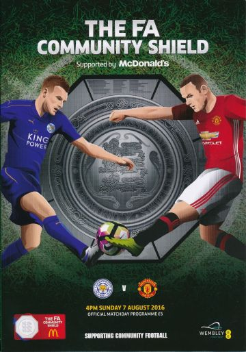 2016 FA Community Shield Leicester City v Manchester United - official match programme